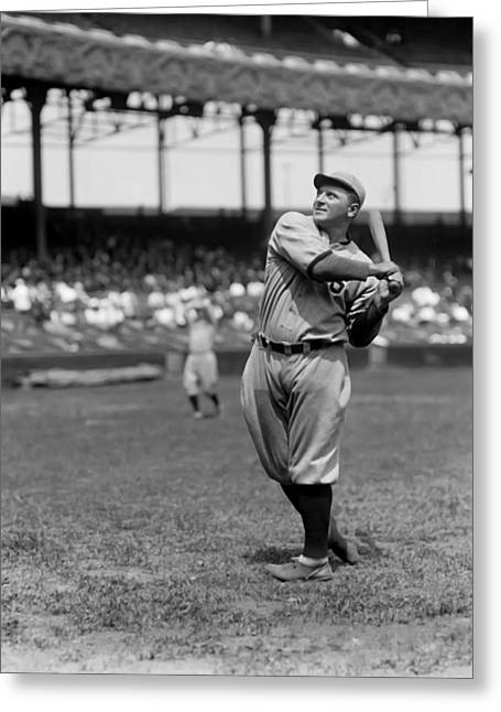 Baseball Game Greeting Cards - Lawrence H. Hack Miller Greeting Card by Retro Images Archive