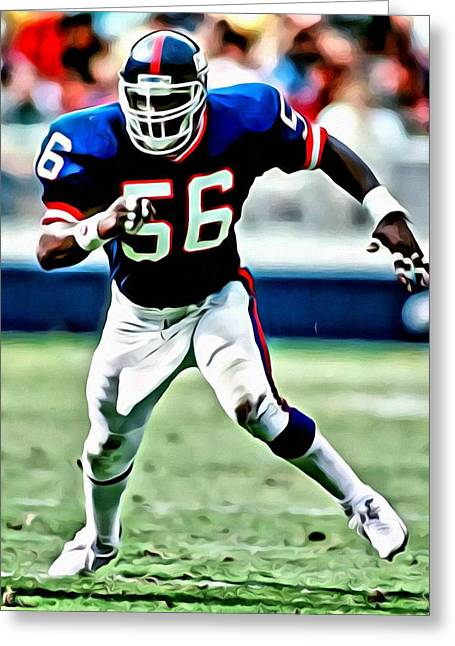 Football Greeting Cards - Lawrence Taylor Greeting Card by Florian Rodarte