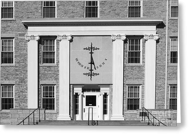 Best Sellers -  - Appleton Art Greeting Cards - Lawrence University Main Hall Sundial Greeting Card by University Icons