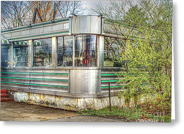 Lawrenceville Diner Greeting Card by Louise Reeves