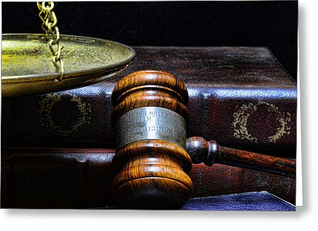 Solicitor Greeting Cards - Lawyer - Books of Justice Greeting Card by Paul Ward