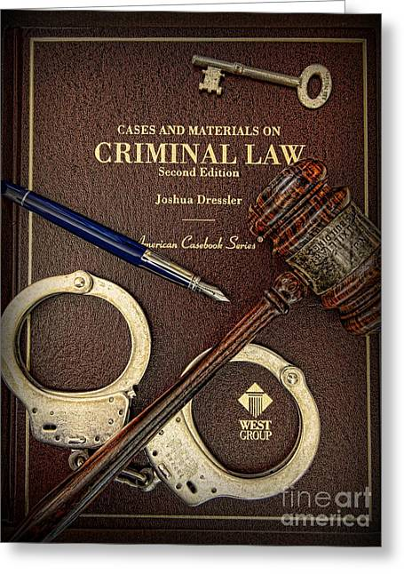 Solicitor Greeting Cards - Lawyer - Criminal Law Greeting Card by Paul Ward