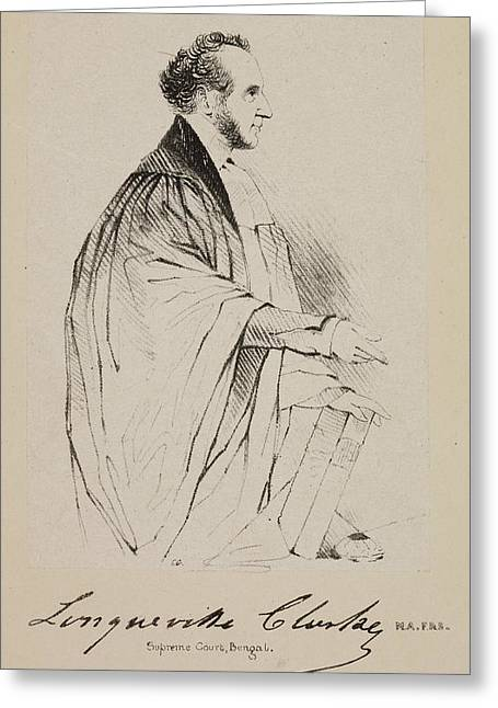 Lawyer In The Supreme Court At Calcutta Greeting Card by British Library