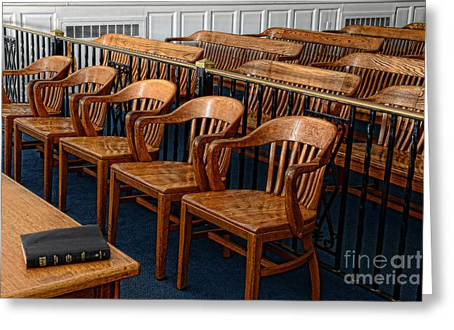 Attorney Greeting Cards - Lawyer - The Courtroom Greeting Card by Paul Ward