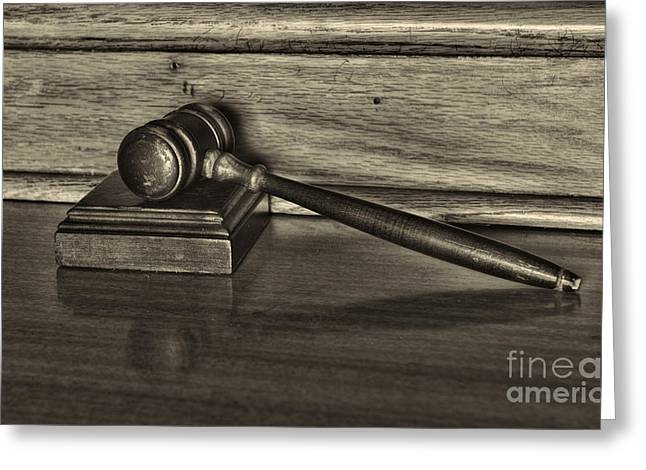 Solicitor Greeting Cards - Lawyer - The Gavel Greeting Card by Paul Ward