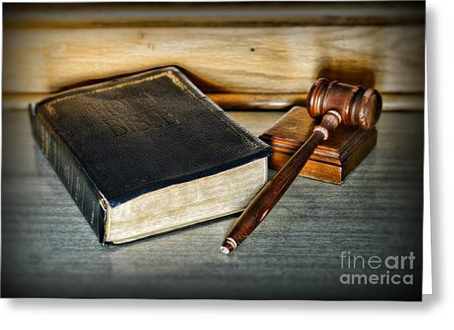 Gift For Greeting Cards - Lawyer - Truth and Justice Greeting Card by Paul Ward