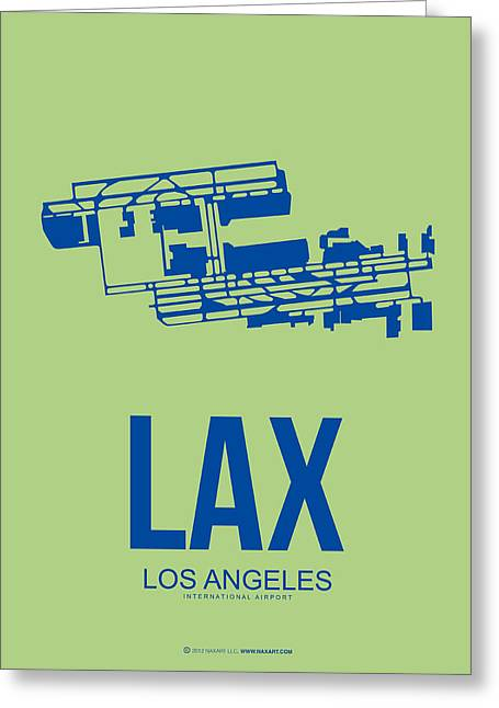 Lax Airport Poster 1 Greeting Card by Naxart Studio