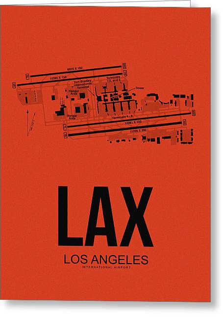 Tourists Digital Art Greeting Cards - LAX Los Angeles Airport Poster 4 Greeting Card by Naxart Studio