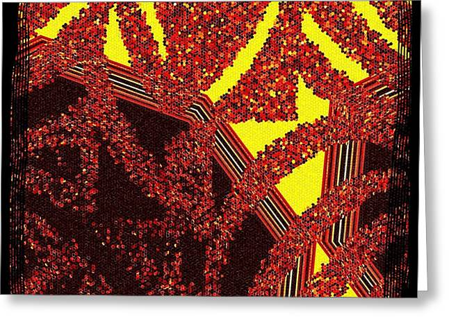 Intrigue Greeting Cards - Layered Abstract   Greeting Card by Will Borden