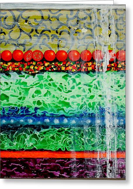 Lettuce Mixed Media Greeting Cards - Layered Salad Greeting Card by Freddie Lieberman