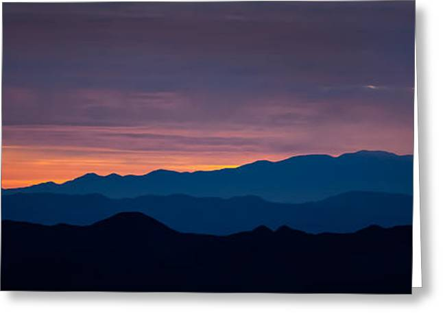 Mojave Desert Greeting Cards - Layers - The Mojave I Greeting Card by Peter Tellone