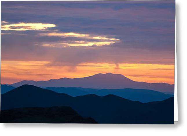 Mojave Desert Greeting Cards - Layers - The Mojave II Greeting Card by Peter Tellone