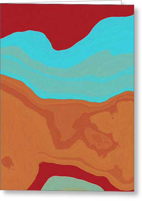 Abstract Forms Greeting Cards - Layers and Form 2 Greeting Card by David G Paul