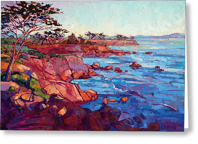 Monterey Greeting Cards - Layers of Monterey Greeting Card by Erin Hanson