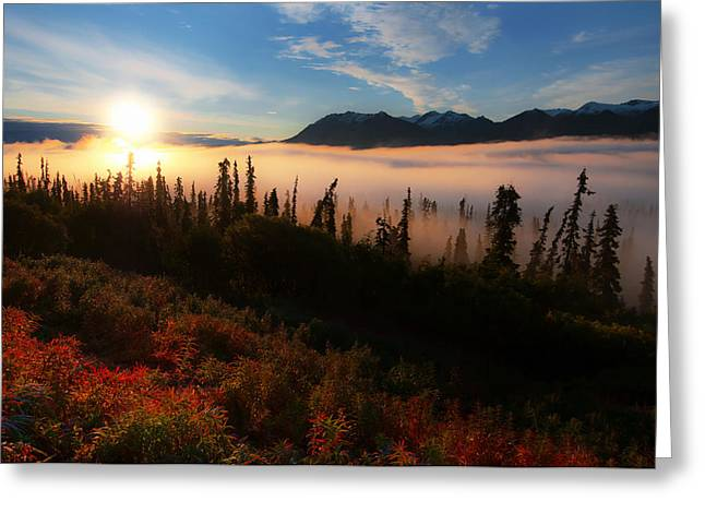 Best Sellers -  - Ghostly Greeting Cards - Layers Of Morning Greeting Card by Ron Day