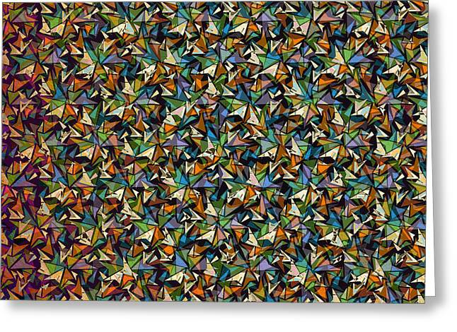 Transparency Geometric Greeting Cards - Layers of Shapes Pattern Greeting Card by Phil Perkins