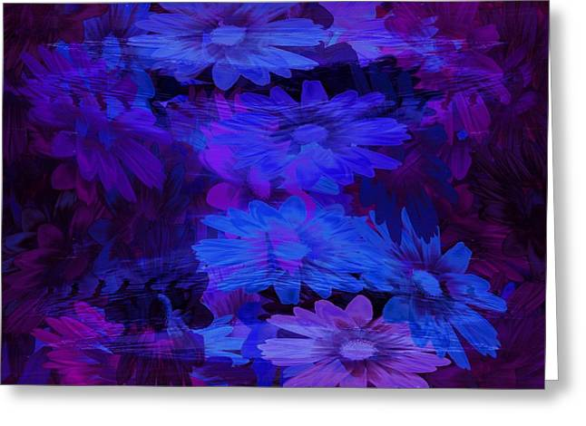 Abstract Digital Glass Greeting Cards - Layers Greeting Card by Tatiacha  Bhodsvatan