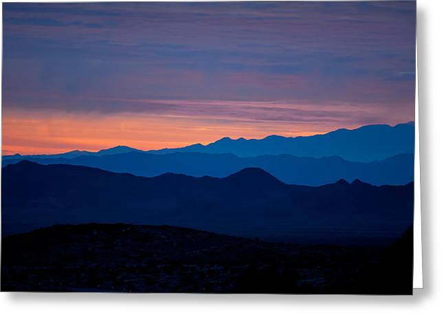 Mojave Desert Greeting Cards - Layers - The Mojave III Greeting Card by Peter Tellone