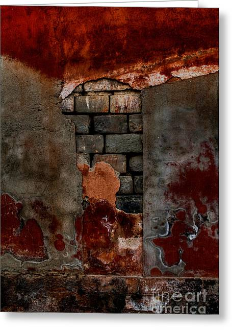 Old Beijing Greeting Cards - Layers Through the Ages Greeting Card by Venetta Archer