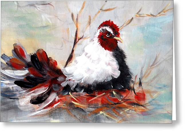 Chicken Laying Eggs Greeting Cards - Laying Eggs Greeting Card by Dorothy Maier