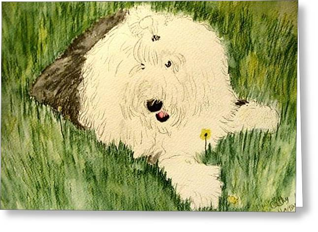 Oes Greeting Cards - Laying in the grass Greeting Card by Cathy Howard