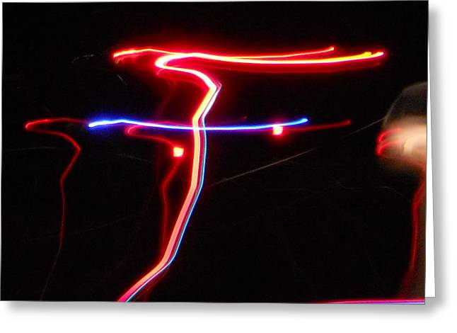 Valuable Photographs Greeting Cards - LAZER FUSION No.4 Greeting Card by James Welch