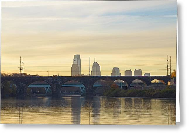 Lazy Digital Art Greeting Cards - Lazy Autumn in Philadelphia Greeting Card by Bill Cannon