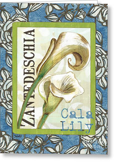Lilies Greeting Cards - Lazy Daisy Lily 1 Greeting Card by Debbie DeWitt