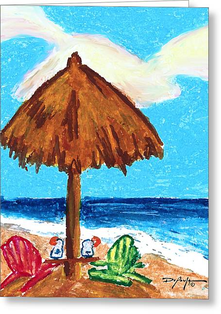 Hawaiian Pastels Greeting Cards - Lazy Days Greeting Card by William Depaula