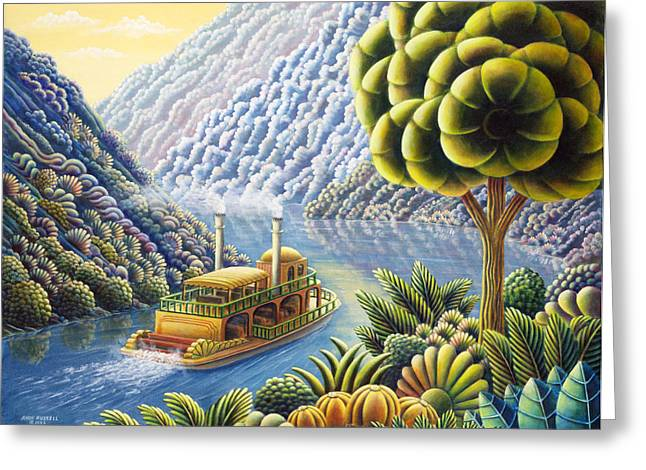 Mythical Landscape Greeting Cards - Lazy River Greeting Card by Andy Russell