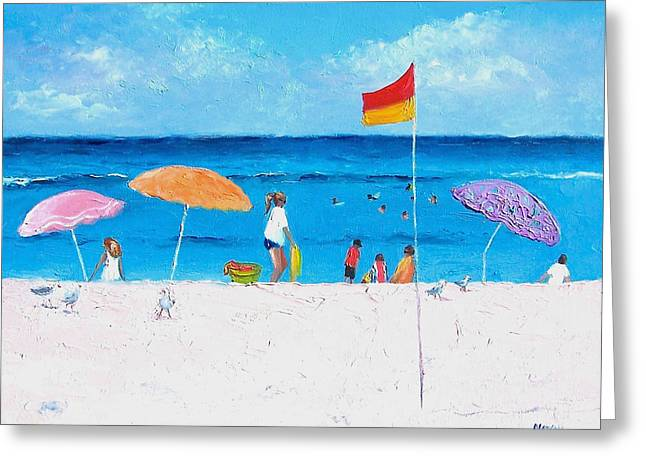 Ocean Art. Beach Decor Greeting Cards - Lazy Summer Day Greeting Card by Jan Matson
