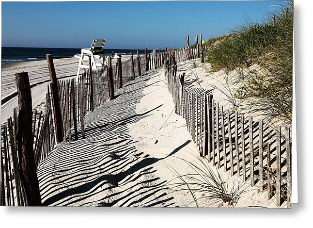 Fotos Greeting Cards - LBI Dunes Greeting Card by John Rizzuto