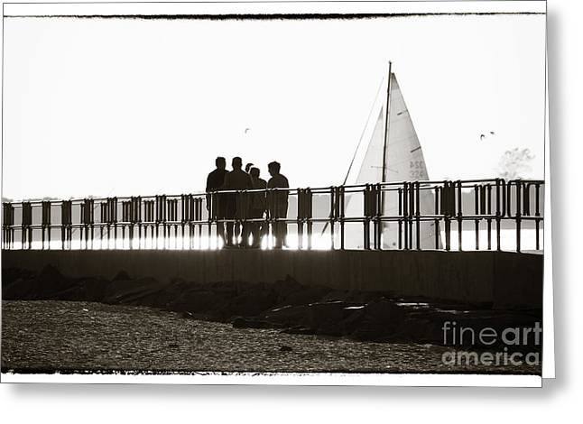 Sailboat Photos Greeting Cards - LBI Friends Greeting Card by John Rizzuto
