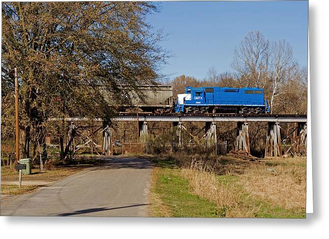 Train On Bridge Greeting Cards - LC On Cane Creek Bridge Greeting Card by Joseph C Hinson Photography