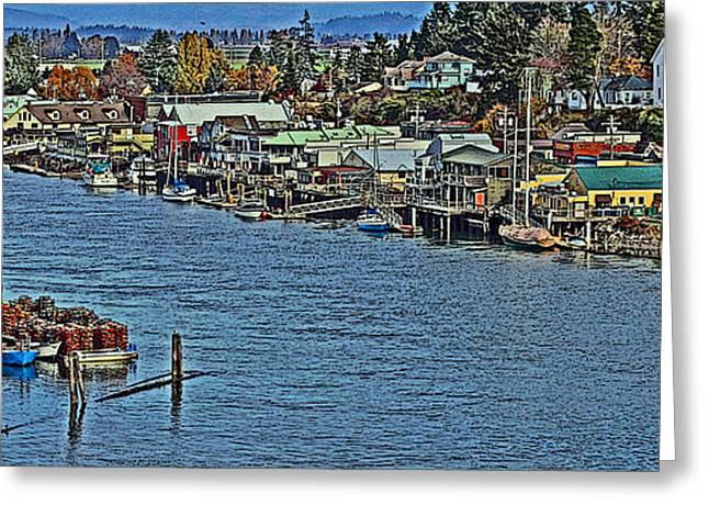 Docked Sailboat Greeting Cards - LC Water Front 2PPE Greeting Card by Brad Walters