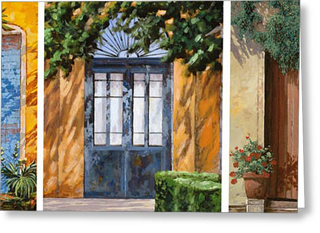 Composition Greeting Cards - Le 5 Porte Greeting Card by Guido Borelli