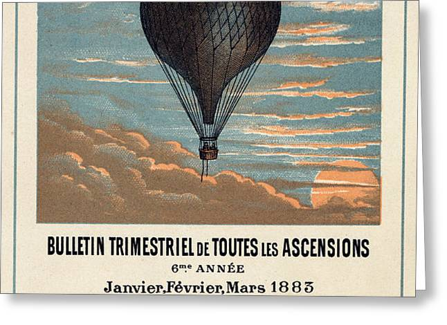 Le Ballon advertising for French aeronautical journal Greeting Card by Nomad Art And  Design