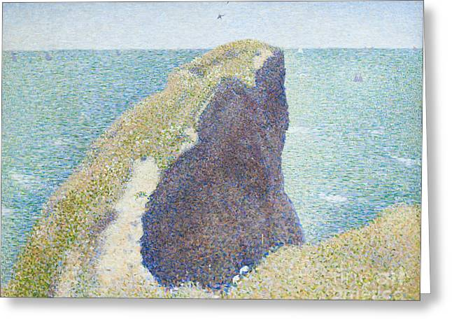Seurat Photographs Greeting Cards - Le Bec du Hoc by Georges Seurat Greeting Card by Roberto Morgenthaler