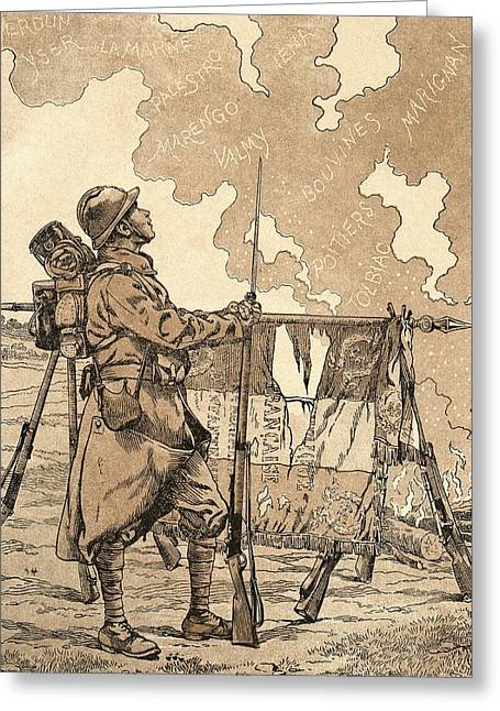 Wwi Photographs Greeting Cards - Le Bleuet. Symbol Of Memory And Solidarity In France, For Veterans And Victims Of The First World Greeting Card by Bridgeman Images