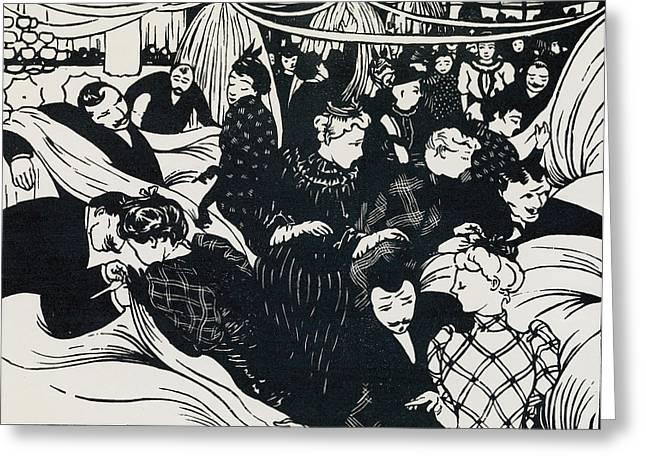 Belles Drawings Greeting Cards - Le Bon Marche Greeting Card by Felix Edouard Vallotton