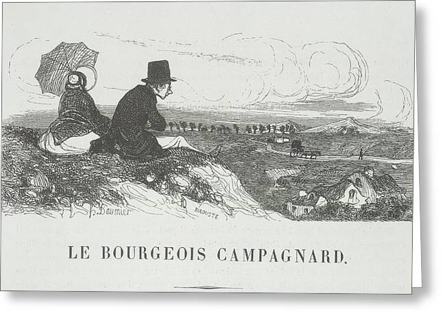 Le Bourgeois Campagnard Greeting Card by British Library