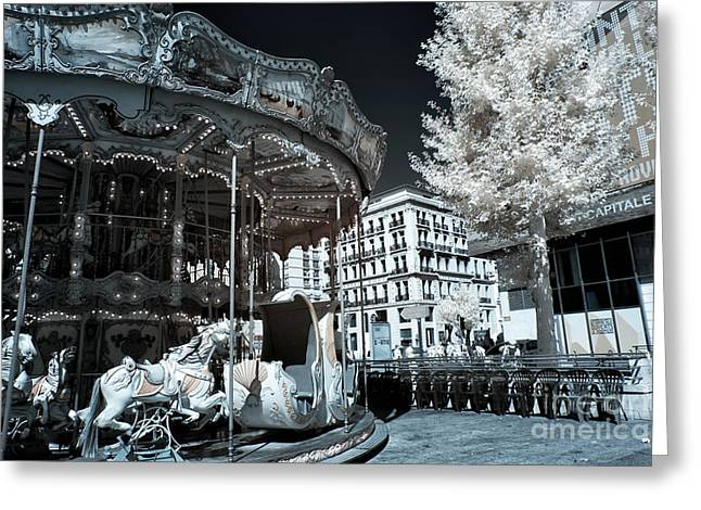 D.w Greeting Cards - Le Carrousel Greeting Card by John Rizzuto