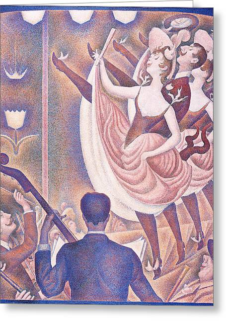 Seurat Greeting Cards - Le Chahut Greeting Card by Georges Seurat