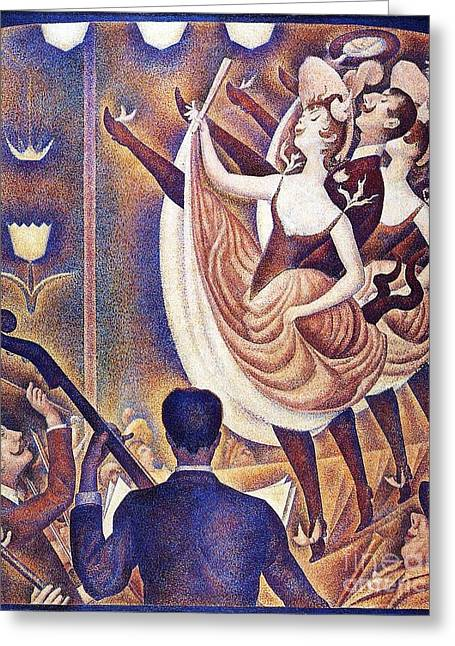 Seurat Greeting Cards - Le Chahut Greeting Card by Pg Reproductions
