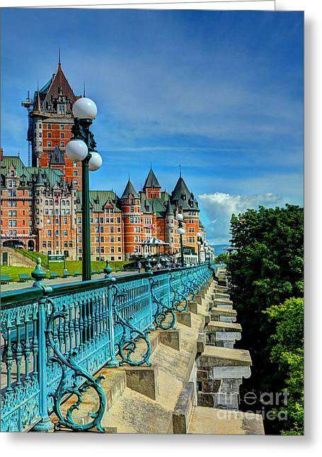 Chateau Greeting Cards - Le Chateau Frontenac Greeting Card by Mel Steinhauer