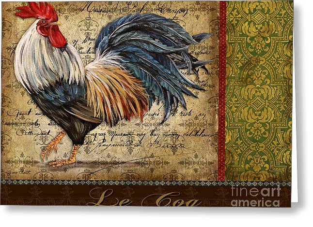 Le Coq Greeting Cards - Le Coq-A Greeting Card by Jean Plout