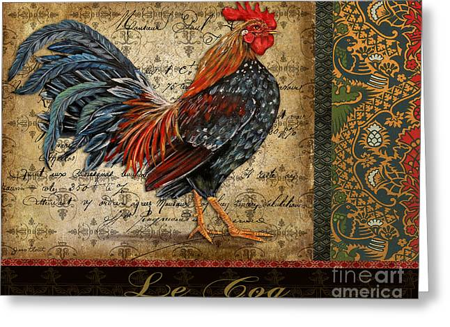 Le Coq Greeting Cards - Le Coq-B Greeting Card by Jean Plout