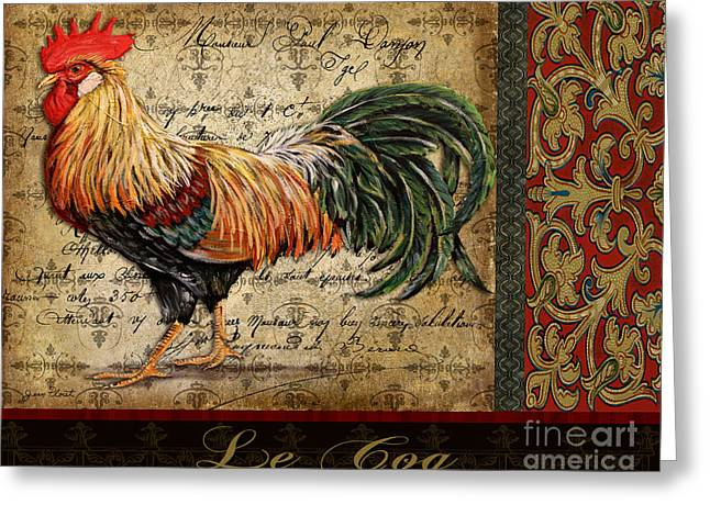 Le Coq Greeting Cards - Le Coq-C Greeting Card by Jean Plout