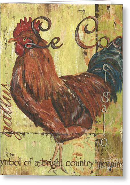 Citron Greeting Cards - Le Coq Greeting Card by Debbie DeWitt