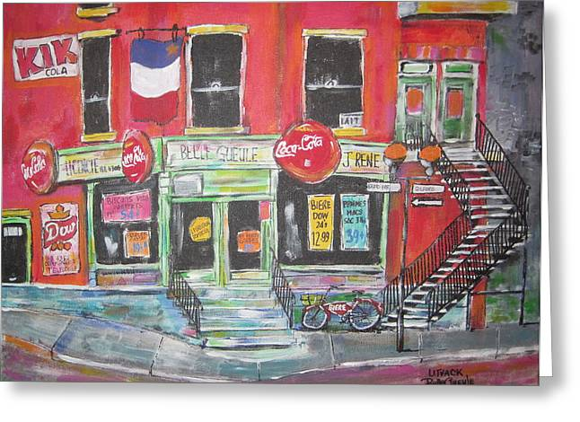 Litvack Greeting Cards - Le Depanneur Greeting Card by Michael Litvack